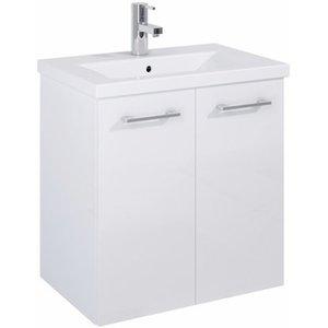 Waschbeckenunterschrank 60 cm Cheese Weiß 2 Türen