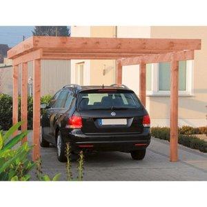 Einzel-Carport Amrum 1 PVC Dacheindeckung Douglasie Natur
