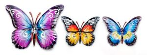 "Wanddeko ""Schmetterlinge"", 3er-Set"