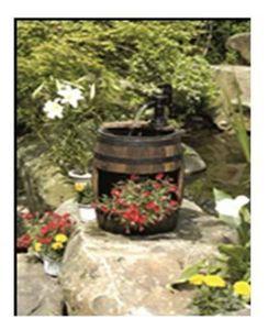 Holzfassbrunnen