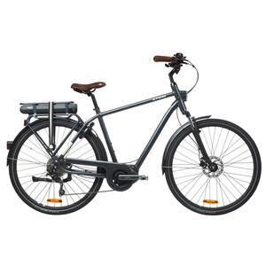 E-Bike City Bike 28 Elops 940 HF hoher Rahmen Shimano Steps grau