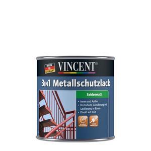 "Vincent              3in1 Metallschutzlack ""dunkelgrau"", seidenmatt"