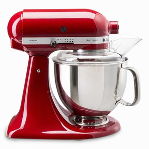 KitchenAid Küchenmaschine Artisan   4,8l, Empire Rot 5tlg.
