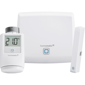 Homematic IP Starter Set Raumklima (1x Home Control Access Point, 1x Heizkörperthermostat, 1x Fenster und Türkontakt)