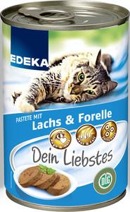 EDEKA Dein Liebstes Pastete mit Lachs & Forelle Nassfutter für Katzen 400 g