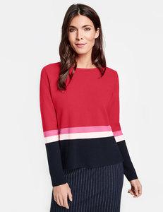 Pullover mit Colour Blocking