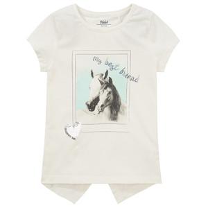 Mädchen T-Shirt mit Pferde Foto-Print