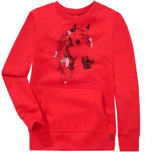 Mädchen Pullover mit Pferde-Print