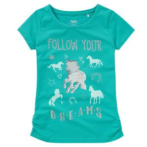 Mädchen T-Shirt mit Pferde-Print