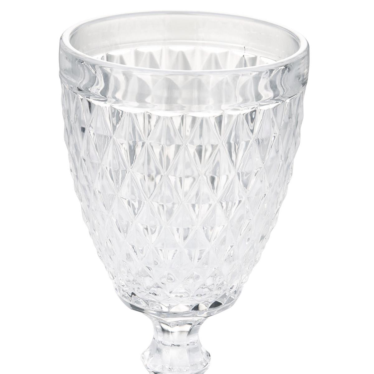 Bild 2 von Weinglas aus strukturiertem Glas