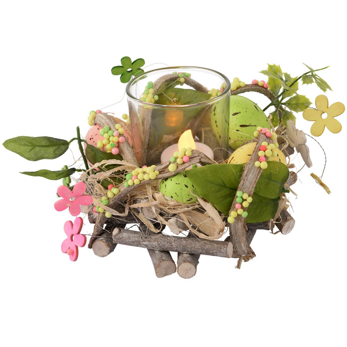 Bild 2 von Deko-Kranz mit Teelichthalter
