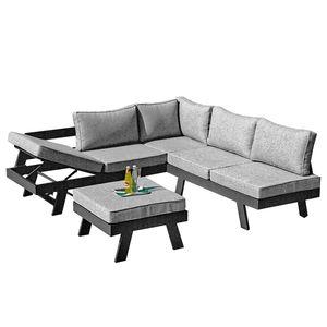 home24 Garten-Lounge-Set Donna (3-tlg.)