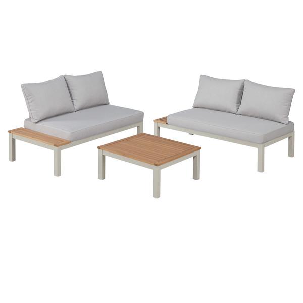 Garten Lounge Set Malibu (1 Tisch, 2 Sofas, mit Auflagen) von Dänisches Bettenlager ansehen