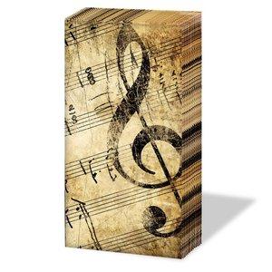 Ambiente Taschentücher la musica 21,5x21,5cm 10 Stück