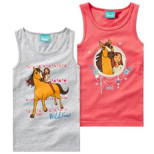 2 Spirit Unterhemden mit Print