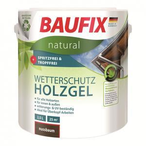 BAUFIX natural Wetterschutz-Holzgel nussbaum