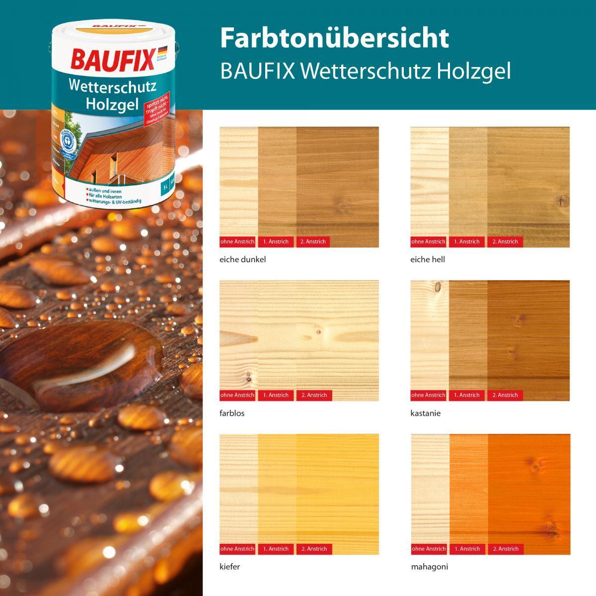 Bild 4 von BAUFIX Wetterschutz-Holzgel eiche dunkel