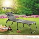 Bild 2 von Solax-Sunshine XXL Komfort- Sonnenliege - Schwarz