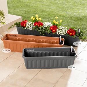 "Powertec Garden Blumenkasten ""Aqua Perfect"", 80 cm, Anthrazit - 2er Set"