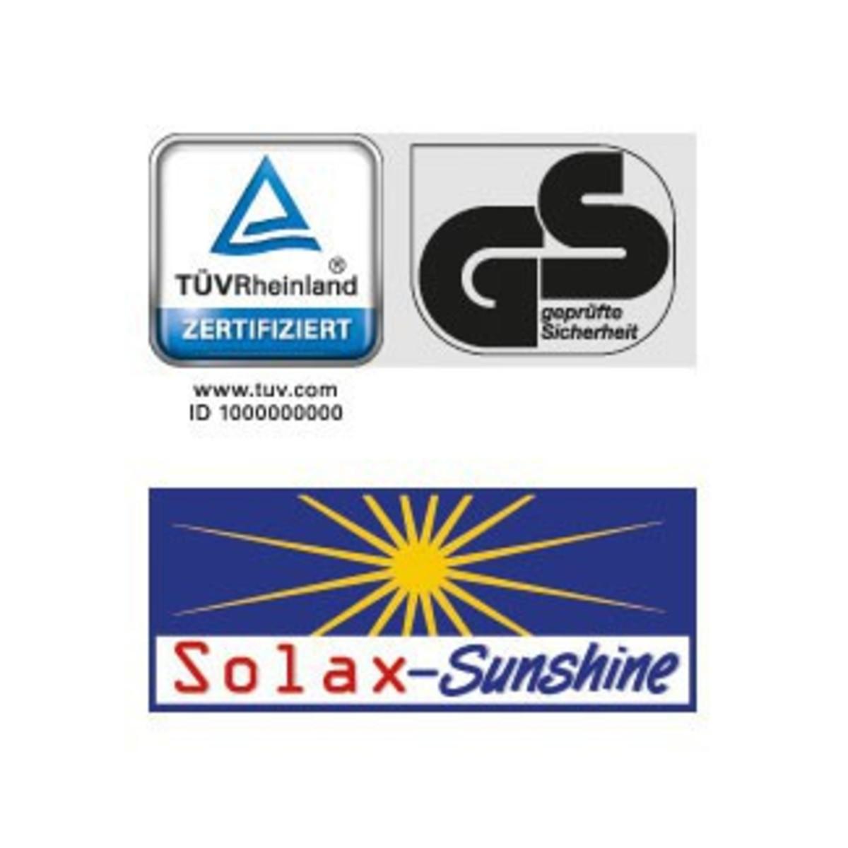 Bild 3 von Solax-Sunshine Alu-Sonnenliege mit Sonnendach, Blau