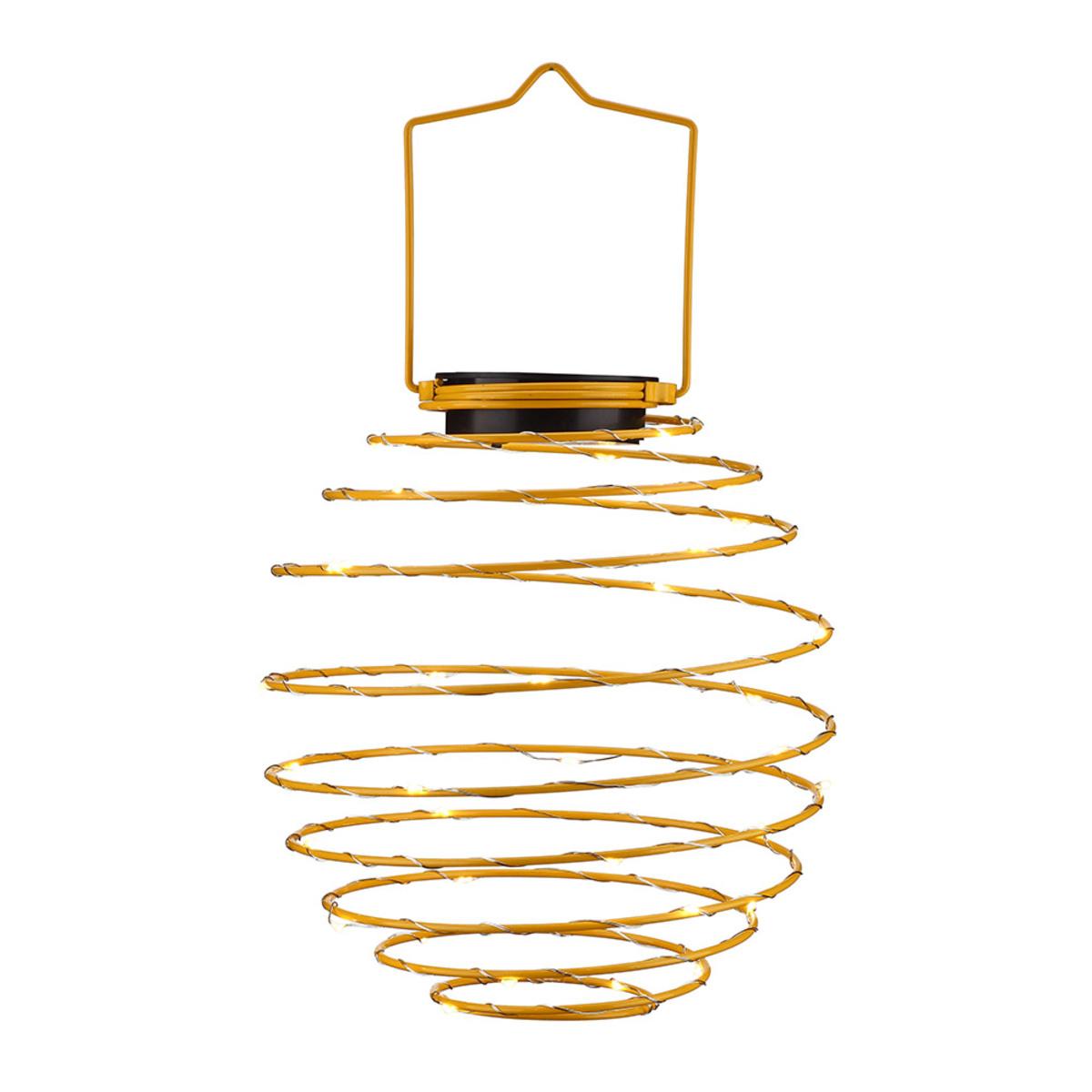 Bild 1 von EZSolar LED Solar Spiral-Lampion, Ø 22cm, Gelb
