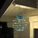 Bild 2 von EZSolar LED Solar Spiral-Lampion, Ø 12cm, Blau - 2er Set