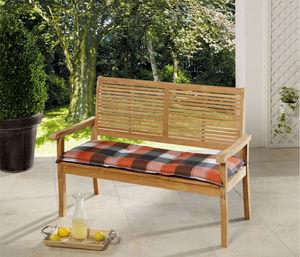 Solax-Sunshine Sitzbank-Auflage, Karo Terrakotta-Grau