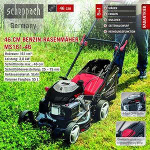 Scheppach Benzin-Rasenmäher MS161-46
