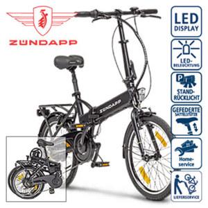 Alu-Falt-E-Bike Green 1.0 - Fahrunterstützung bis ca. 25 km/h - Li-Ionen-Akku 36 V/7, 2 Ah, 259 Wh - Reichweite: bis ca. 45 km (je nach Fahrweise) - wartungsfreier Hinterradmotor, 250 Watt - Shimano