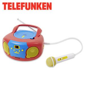 Kinder CD-Radio RC1012K • CD-Player • analoger FM-Tuner • 3,5-mm-Klinken-Anschluss • inkl. Mikrofon • Netz- oder Batteriebetrieb
