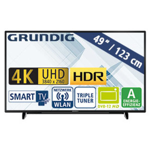 "49""-Ultra-HD-LED-TV 49 GUB 8862 • HbbTV • 3 HDMI-/2 USB-Anschlüsse, CI+ • Stand-by: 0,45 Watt, Betrieb: 88,1 Watt • Maße: H 65,7 x B 110 x T 7,8 cm • Energie-Effizienz A (Spektrum A++ b"