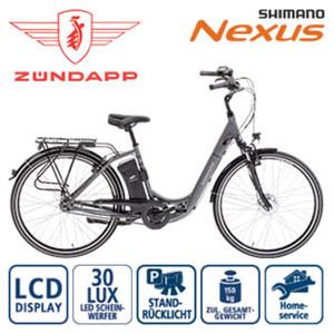 Alu-Elektro-Fahrrad Green 3.0 - Fahrunterstützung bis ca. 25 km/h - Samsung-Li-Ionen-Akku 36 V/11 Ah, 396 Wh - Reichweite: bis zu 100 km (je nach Fahrweise) - Blaupunkt wartungsfreier Vorderradmotor