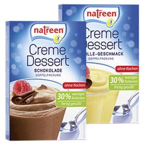 Natreen Creme - Dessert Vanille oder Schokolade ohne Kochen jede 2er Packung