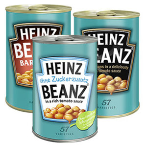 Heinz Gebackene Bohnen versch. Sorten, 415/390-g-Dose, ab 3 Dosen je