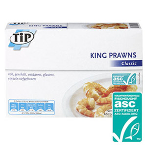 King Prawns Classic, Provencal oder Sweet Chili gefroren, jede 225-g-Packung