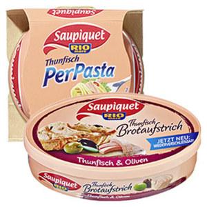 Saupiquet Thunfisch für Pasta oder Brotaufstrich jede 160/115-g-Dose