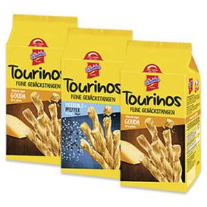 Tourinos Knusperstangen Käse oder Meersalz jede 125-g-Packung, 3 nehmen 2 zahlen