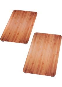 """Herdabdeckplatten """"Holz-Optik"""" (2-tlg. Set)"""