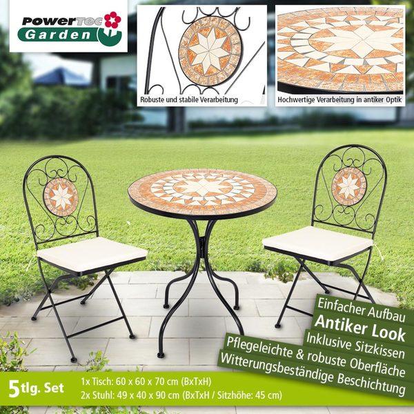 Powertec Garden Mosaik Gartentisch Set 5tlg Von Norma Ansehen