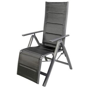 Relaxsessel Comfort klappbar mit Aluminiumgestell anthrazit