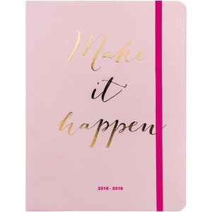 Paper Poetry Agenda 2018-2019 Make it happen rosa 14x18cm