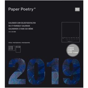 Paper Poetry Kalender 2019 schwarz 21,5x24cm