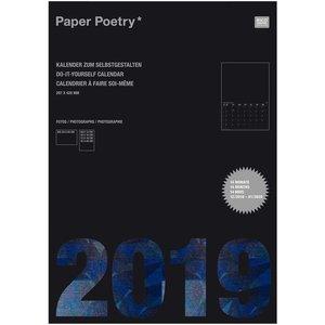 Paper Poetry Kalender 2019 DIN schwarz A3