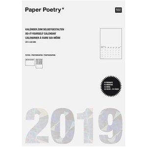 Paper Poetry Kalender 2019 DIN weiß A3