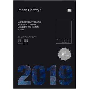 Paper Poetry Kalender 2019 schwarz DIN A5