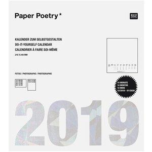 Paper Poetry Kalender 2019 weiß 21,5x24cm