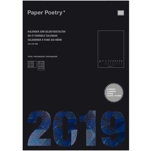 Paper Poetry Kalender 2019 DIN A4 schwarz
