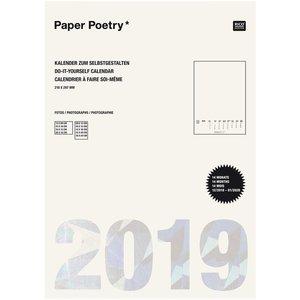 Paper Poetry Kalender 2019 DIN A4 creme