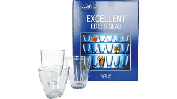 Becherset Glas Excellent 18-tlg