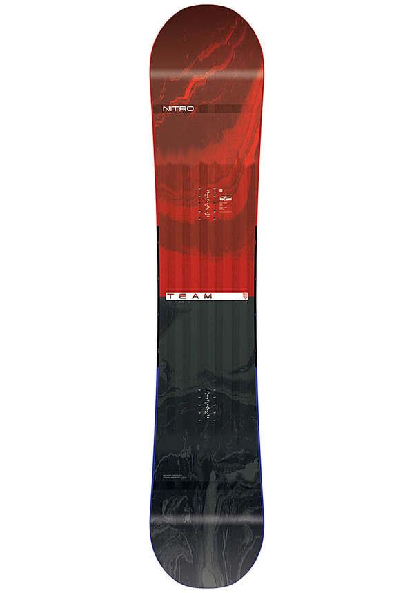 NITRO Team Gullwing Wide 157cm - Snowboard für Herren - Mehrfarbig